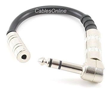 Stereo 1/4 inch Headphone Jack Adapter