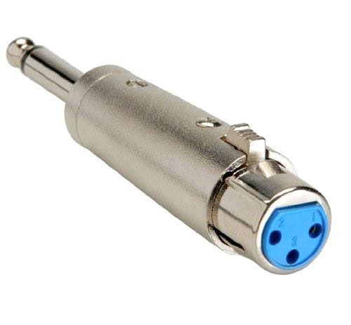 XLR to quarter inch adapter
